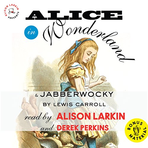 Alice in Wonderland & Jabberwocky by Lewis Carroll audiobook cover art