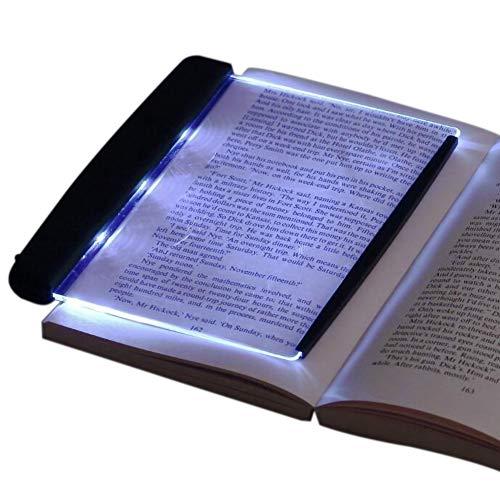 Biowlucn LED Reading Light Night Light Book Family Study Light Eye Care Reading Lamp Portable Bookmark Light for Reading in Bed, Car