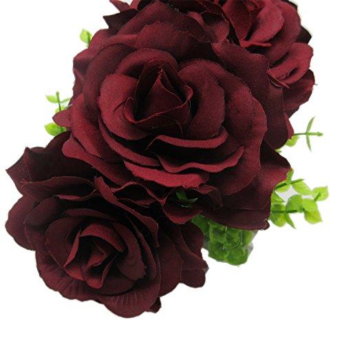 Rose Flower Hair Clip Flamenco Dancer Pin up Flower Brooch