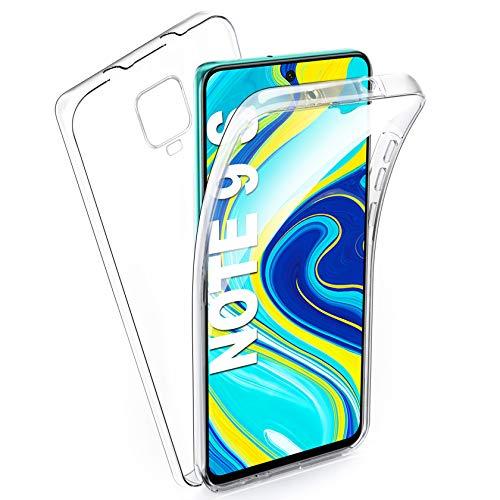 AROYI Funda Xiaomi Redmi Note 9S/Xiaomi Redmi Note 9 Pro/Xiaomi Poco M2 Pro, Ultra Slim Doble Cara Carcasa Protector Transparente TPU Silicona + PC Dura Resistente Anti-Arañazos Protectora Cas