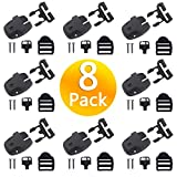 Spa Cover Clips Replacement,Spa Hot Tub Cover Broken Latch Repair Kit, Replace Latches Clip Lock with Keys and Hardwares Pack of 8