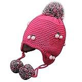 Familizo Bébé Fille Garçon Bonnet Tricoté Bonnet Froid Chapeau Chaud d'hiver...