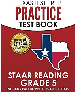 TEXAS TEST PREP Practice Test Book STAAR Reading Grade 5