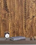 CiCiwind 45 * 500 CM Papel tapiz Traje Armario Mesa Imitación Madera Roble Papel adhesivo Marrón Muebles decorativos Calcomanías Muebles Impermeable Grueso Autoadhesivo