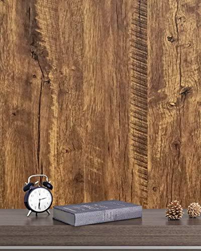 Klebefolie Braun Holz Eiche Selbstklebende Wasserdicht Wandtapete Braun Holzmaserung 45cm X 300cm Natur Holzoptik Wandverkleidung Wasserdicht für Zimmer Schrank Wand Küchen Tisch Vinyl Folie