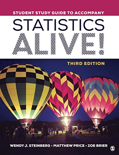 Student Study Guide to Accompany Statistics Alive!