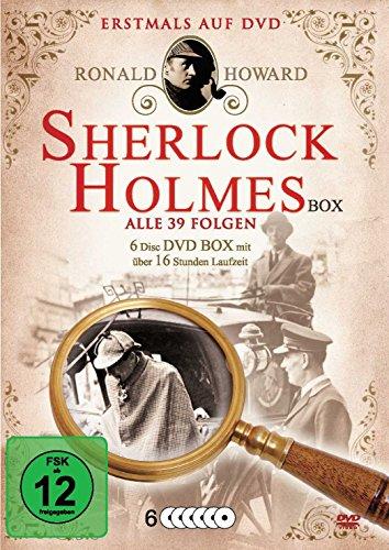 Sherlock Holmes Box - Alle 39 Folgen (6 Disc DVD Box mit über 16 Stunden Laufzeit)