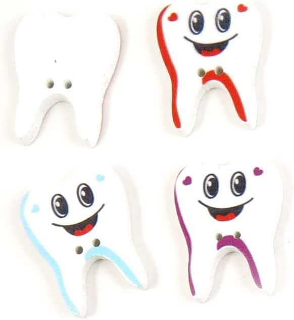 380 Pieces Sewing Buttons 1101 security Scrapbook Credence Handmade Tooth Bou Cute