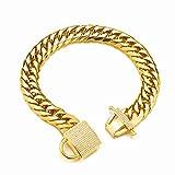 Aiyidi Gold Dog Chain Collar Strong...