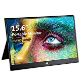 Z-Edge 15.6 Inch Portable Monitor for Laptop, 1080P FHD IPS HDR Portable Gaming Monitor Computer Display with Ultra-Slim Metal Alloy Frame, Foldable Case, HDMI Type-C for PC MAC Phone Switch Xbox PS4