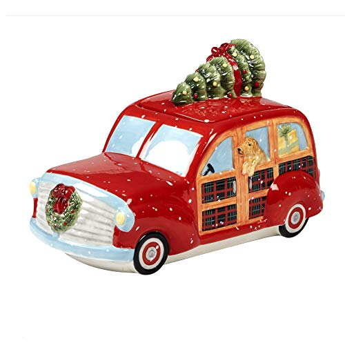 Certified International Home for Christmas 3-D Truck Cookie Jar 11' x 6.25' x 7' Servware, Serving Accessories, One Size, Multicolored