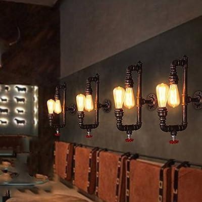 AOKARLIA Premium Industrial Wall Light, Metal Sconce Light Fixture For Bar Kitchen - Purple Bronze