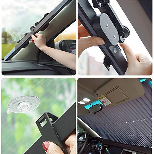 PPuujia Cubierta para parasol de automóviles para ventanilla delantera, cubierta para parabrisas trasero y interior, accesorios de protección UV (color: tipo A 46 cm, 1 juego)