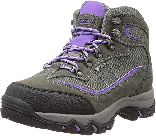 Hi-Tec Women's Skamania Mid Waterproof Hiking Boot, Grey/Viola,6.5 M US