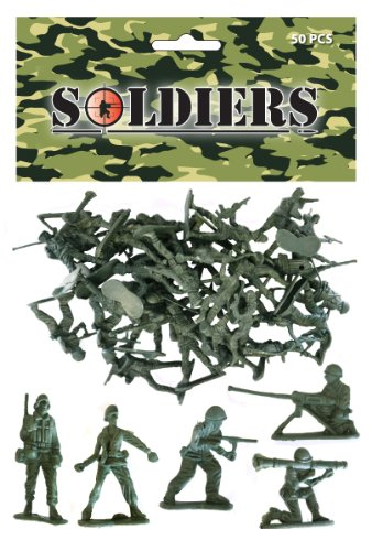 Soldats en plastique x 50