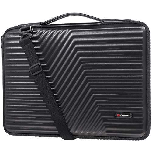 DOMISO 17 inch Laptop Sleeve Shoulder Bag EVA Shockproof Case Waterproof Protective for 17.3' Dell Inspiron/MSI GS73VR Stealth Pro/Lenovo IdeaPad 320 321/HP Envy 17/LG Gram 17'/ASUS ROG Strix GL702VS