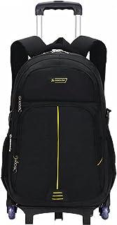 Caki Sweigo Primary Trolley Backpack Kids Rolling Bag Elementary Wheeled Book Bag Travel Luggage for Teens