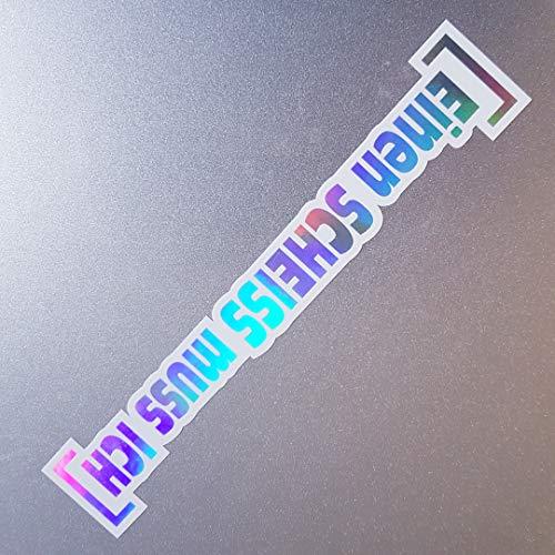 folien-zentrum Einen Scheiss muss ich Weiß Hologramm Oilslick Rainbow Flip Flop Aufkleber Metallic Effekt Shocker Auto JDM Tuning OEM Dub Decal Sticker Illest Dapper Oldschool