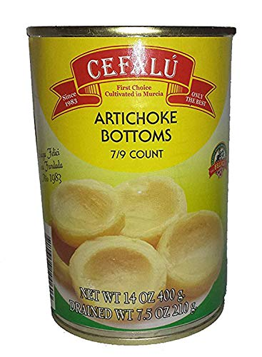 Artichoke Bottoms by Cefalu (14 Ounce Can Each) Product of Spain, Non...