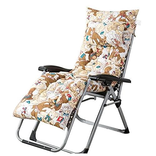 SSLBOO Cojín de Silla Largo Engrosado cómodo Asiento de Descanso Almohadilla Impermeable Estera Almohada para Silla reclinable al Aire Libre Tumbona 48x125x8cm