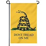Anley |Double Sided| Premium Garden Flag, Dont Tread On Me Decorative Garden Flags - Weather Resistant & Double Stitched - 18 x 12.5 Inch