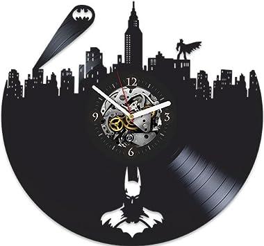 Batman Vinyl Wall Clock, Batman New Year Gift, Vinyl Wall Clock, Batman Xmas Gift for Boy, Wall Clock Large, Batman Gift for