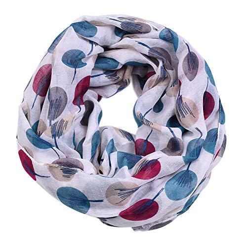 Loop-Schal für Damen, Loop Cary Basic Schal Tuch Damen-schal Schlauchschal Rundschal Halstücher uni unifarben Loopschal Rundschal einfarbig Geschenkidee für Frauen perfektes Frühling Sommer
