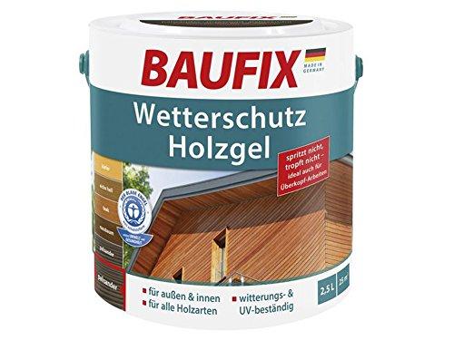 Baufix Wetterschutz Holzgel 2,5L für innen & außen Holzschutz (Palisanter)