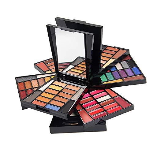 BrilliantDay 64 Couleurs Fard à Paupières Palette de Maquillage Cosmétique Set avec Correcteur, Fard à Joues, Poudre compacte et Rouge à Lèvres - Convient pour une Utilisation Professionnelle