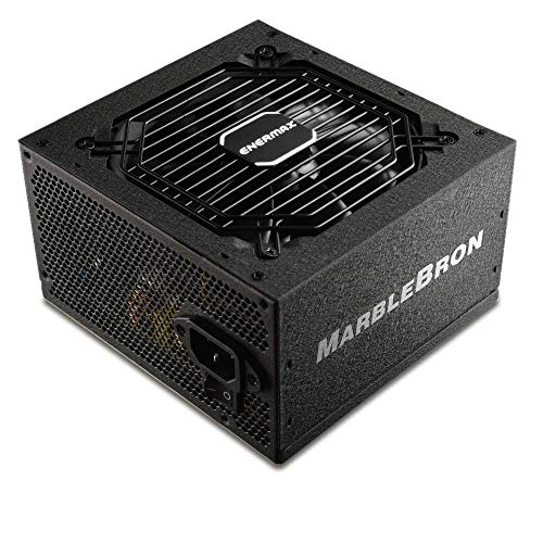enermax MARBLEBRON ATX - Fuente de alimentación para PC (650 W, 80 Plus, Bronce, 230 V, UE, semimodulable), Color Negro