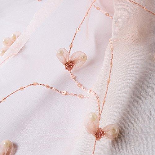 LLZHWSJ Silk/Handmade/stereoscopische bloem/sjaal/slingers/avondjurk/sjaal/roze