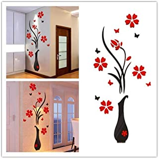 DIY Vase Flower Tree Crystal Arcylic 3D Wall Stickers Decal Home Decor,8040cm/31.515.7