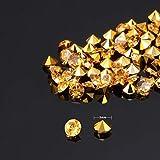 Transparente Hochzeits-Streudekoration, 10.000 Acryl-Kristalle, Diamanten, Strass für Hochzeit, Brautparty, Vasen, Perlen, acryl, gold, 0,30 cm - 4