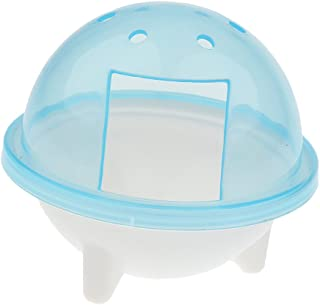 プラスチック製 UFO ハムスター スナネズミ ペット バスルーム ケージ 風呂 砂 シャベル おもちゃ トイレ 3色選べる - シルバー