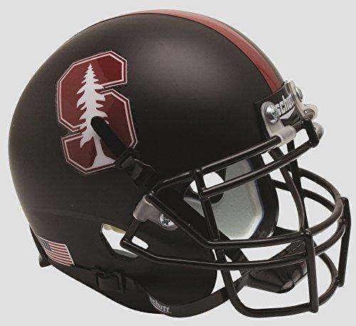 NCAA Stanford Cardinal Mini Authentic XP Football Helmet, Black Tree Alt. 3, Mini