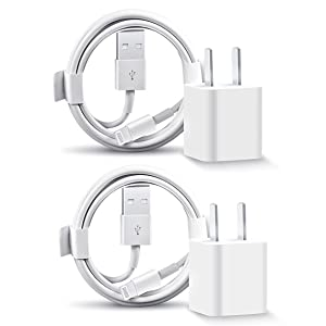 iPhone Charger, 2 Pack iPhone Fast Charger Travel Plug with 6FT USB to Lightning Cable Fast Charging Data Sync Transfer Cable Compatible with iPhone 12/11/11 Pro/Xs/XR/X/8/8Plus and More