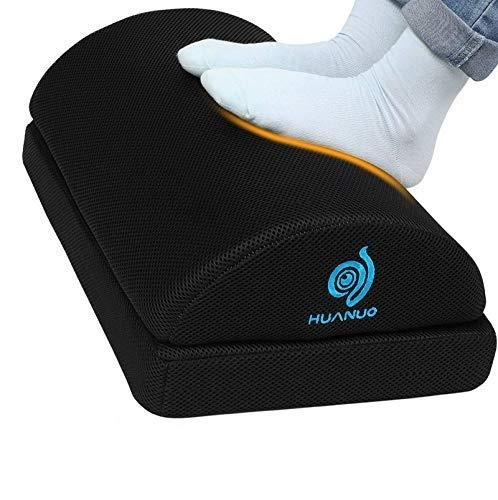 Adjustable Foot Rest - Under Desk Footrest with 2 Optional Covers for Desk, Airplane, Travel, Ergonomic Foot Rest Cushion with Magic Tape and...