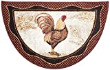 Brumlow Mills Tall Farmhouse Rooster Area Rug Rustic Decor Mat for Kitchen, Dining, Bedroom, Bathroom, Entryway or Living Room, 19' x 32', Brick