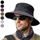anaoo Cappello Uomo Cappelli da Sole Cappelli da Pescatore da Campeggio all'Aria Aperta Escursionismo da Viaggio Cappellino in Visiera per Protezione UV Cappelli Estivi per Uomo, Nero