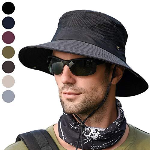 anaoo Sombrero Hombre Gorra de Verano Sombrero Pesca del Sol Gorra al