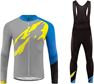 Uglyfrog Sports Mens Aloha Outdoor Sports Mountain Bike Long Sleeve Cycling Jersey Excellent Performance Top/Bib Pant Suit