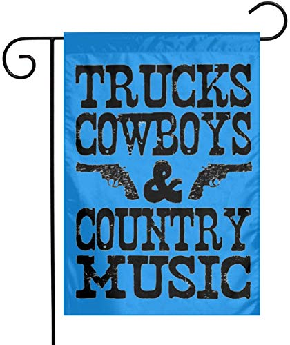 Not Applicable LKWs Cowboys & Country Musik Garten Flagge Banner Dekorative Outdoor Beidseitig Yard Flagge 12.5