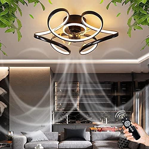 YUnZhonghe Ventilador de techo LED con iluminación regulable con control remoto Ventilador de techo Luz de techo Ultra silenciosa Ventilador Ajustable Velocidad de viento Sala de la sala de estar Dorm
