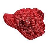 Tuopuda Crochet Invierno Beanie Gorro de Punto Caliente Cozy