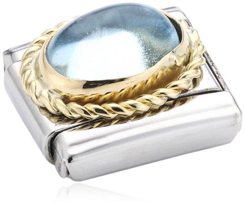 Nomination Composable Damen-Bead Classic Halb ine Stahl Gold 18K + Godrone Light Blue Topaz 030508/13