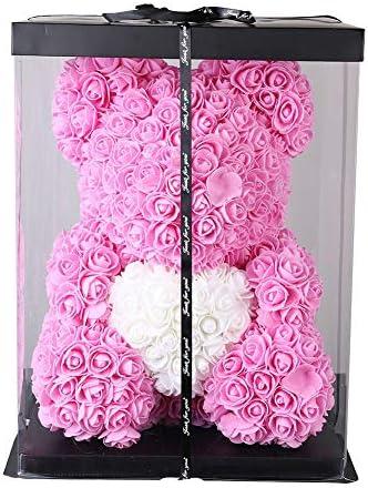 Ingzy 15 7 Inch Rose Teddy Bear Luxury Handmde Flower Teddy Bear for Valentines Day Anniversary product image