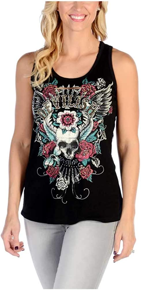 Liberty Wear Womens Lowest price challenge Devilish Direct stock discount Top Lace Back Tank