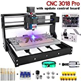 2 IN 1 5500mW Engraver CNC 3018 Pro Engraving Machine, GRBLControl PCB PVC Wood Router CNC 3 Axis Milling Machine with...