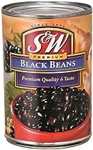 S&W ブラックビーンズ 4号缶 425g×12缶