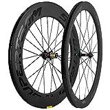 700c front wheel carbon - Superteam Wheelset Front 50mm Rear 88mm 700c Carbon Wheel 25mm Clincher